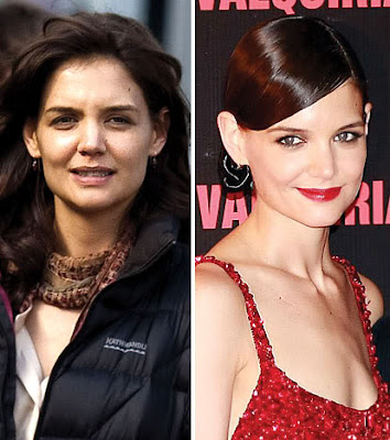 Hollywood Celebrities With & Without Makeup