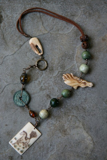 Treasure Hunting For Mixed Media Necklaces Five O Clock