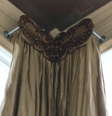 Finestra Decorative Hardware Custom Carved Drapery