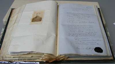 Death warrant and carte of James Sutherland by Nevin
