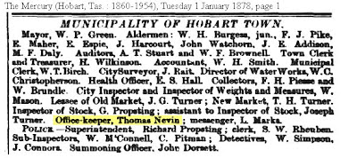 Thomas Nevin Office keeper Municipal Council Hobart