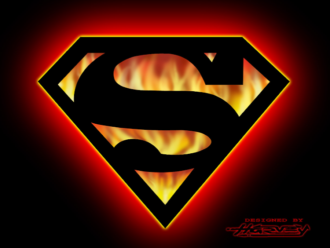 superman logo fire hd - photo #9