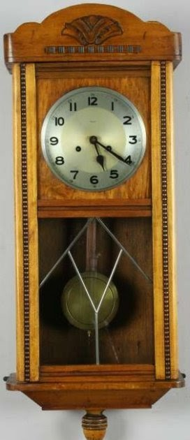 Vintage German Wall Clock Antiques Art