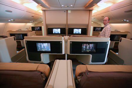 Airbus a380 pictures for Avion airbus a380 interieur