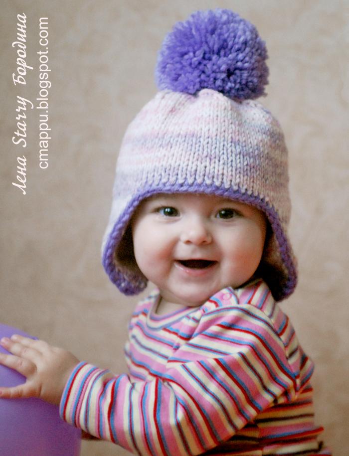 Итак, для вязания зимней шапочки с ушками нам понадобятся.
