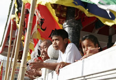 in that location lead maintain been a couplet of the street processions inward Phuket Town already Bangkok Map; Some Photos from Kathu Shrine - Vegetarian Festival