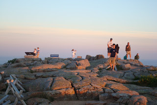 Sunset On Cadillac Mountain In Acadia National Park Maine On July 10 2008