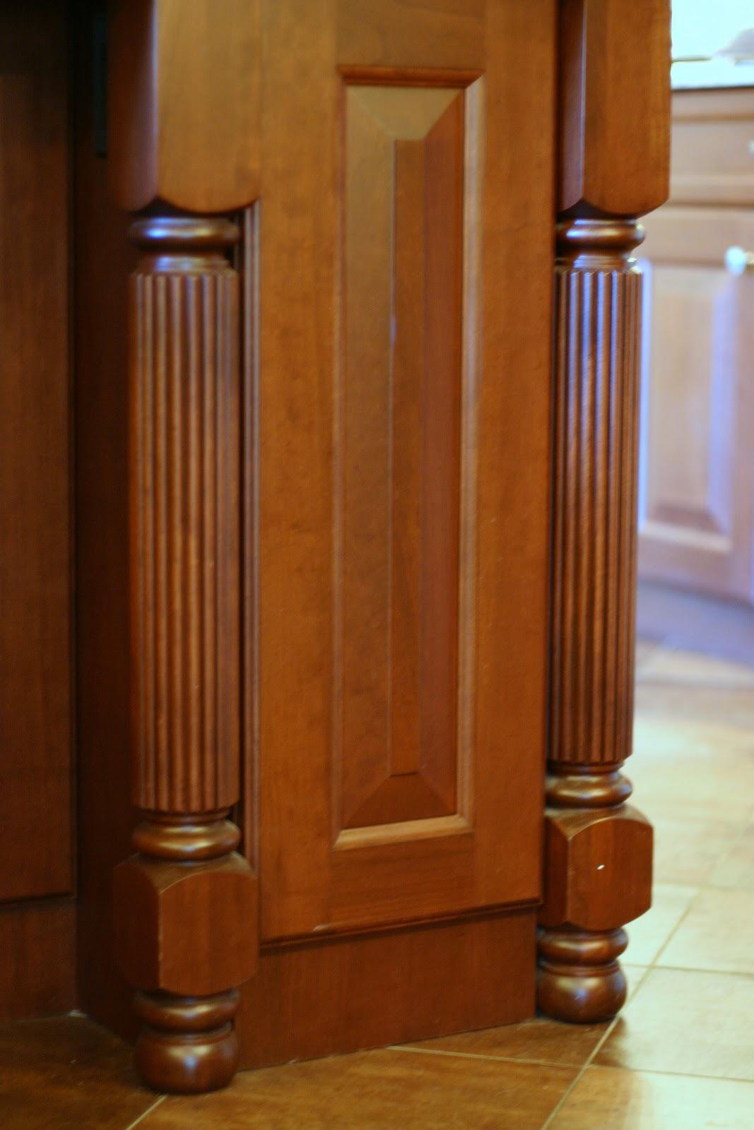 kitchen cabinets with legs dark walnut