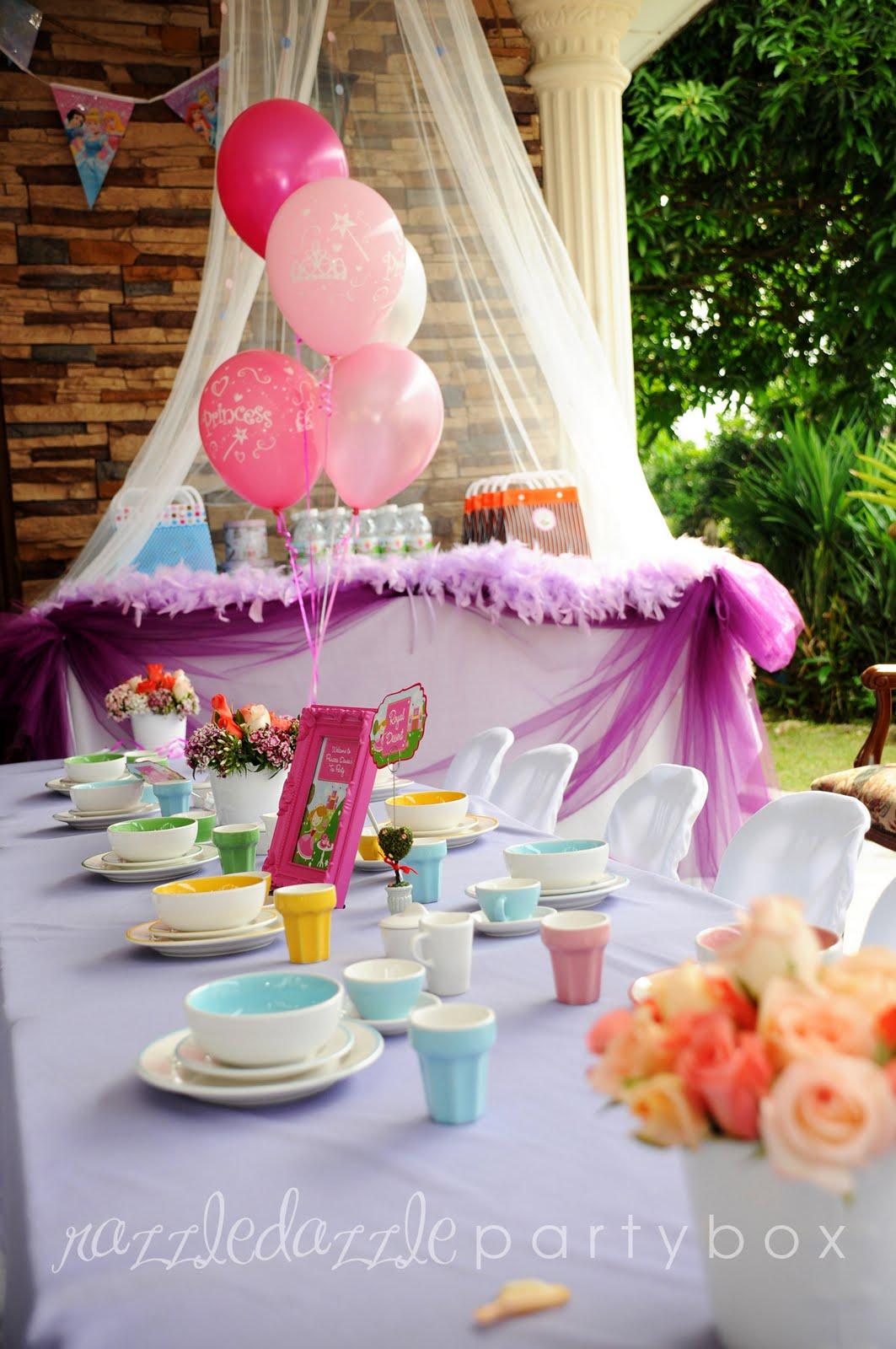 razzle dazzle party box theme birthday party princess tea party
