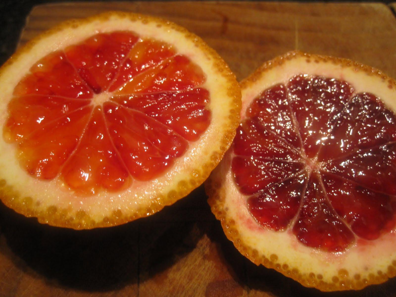Bubbles n Squeaks Mandarin Sorbet with Tangelo Blood