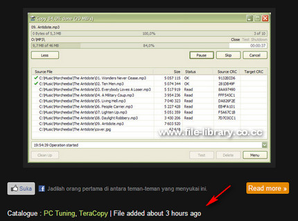 File Library Timeago live Demo