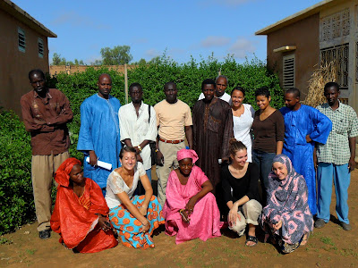 Tostan volunteers pose with Tostan staff at the regional office in Ourossogui, located in northern Senegal.
