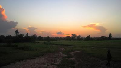 Sunset over Touba Wuli