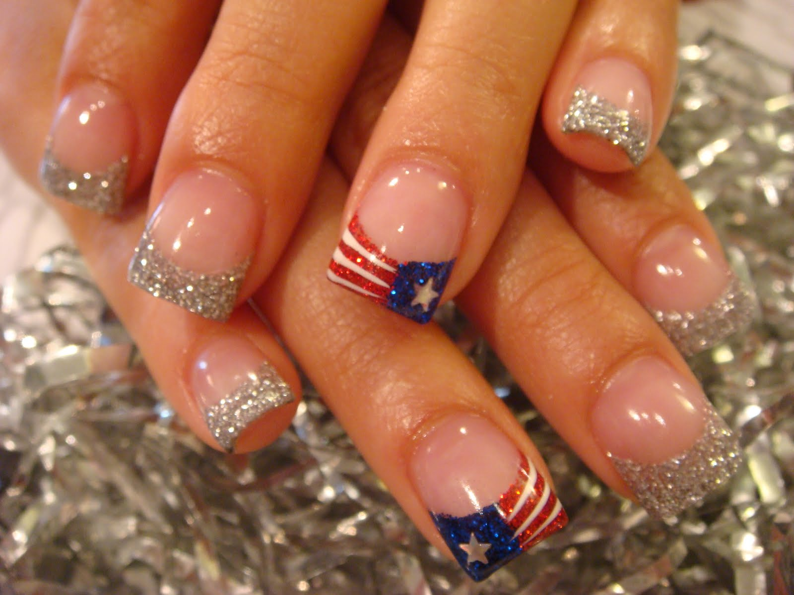 4th of July Acrylic Nail Designs - Home design