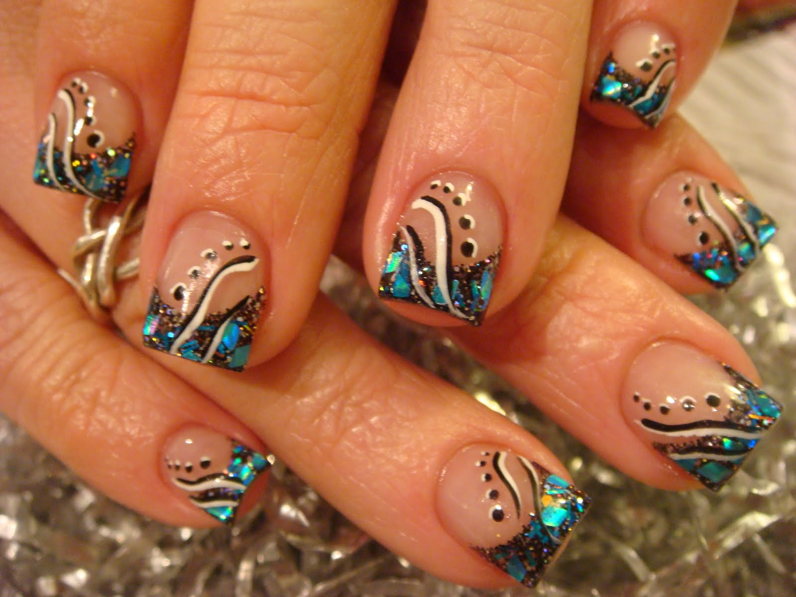Acrylic Hand Painted Nail Designs Home Design