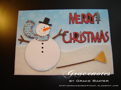 chubby snowman card, by Grace Baxter