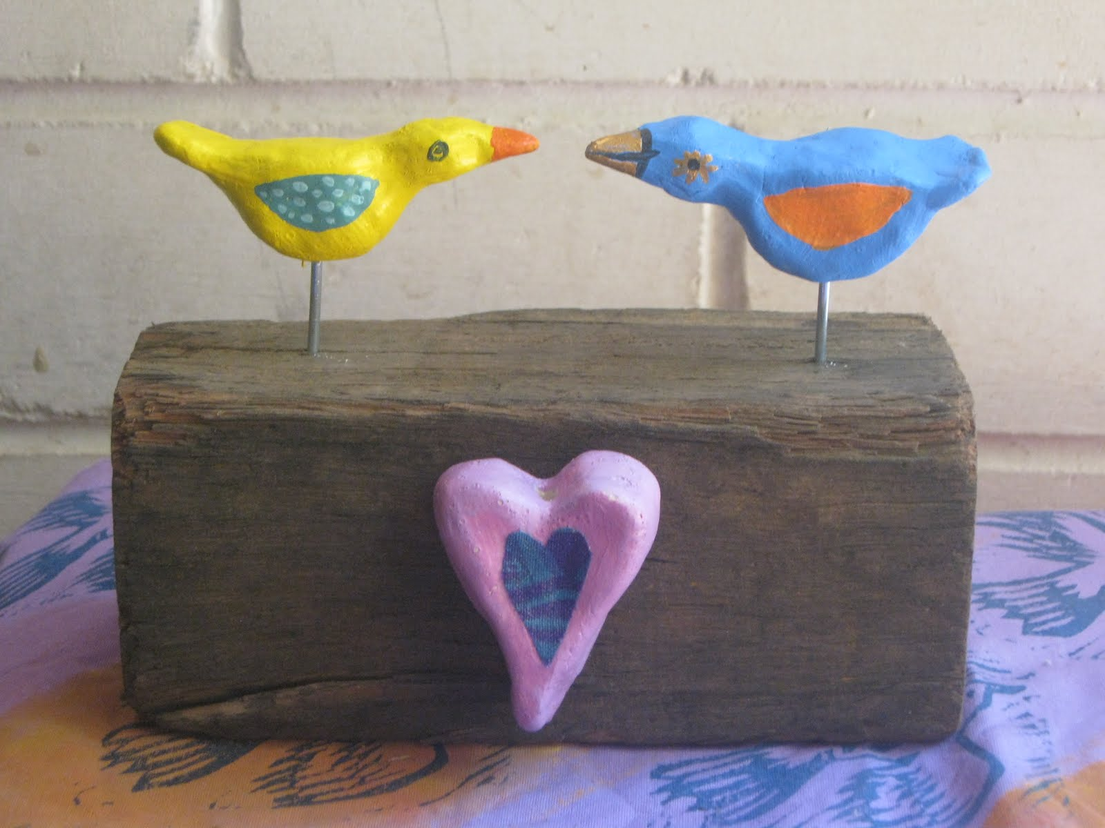 Love Bird Figurines What I Did On Friday Bird Sculptures