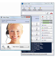 Make video phone calls with the Express Talk softphone on your Mac or PC computer
