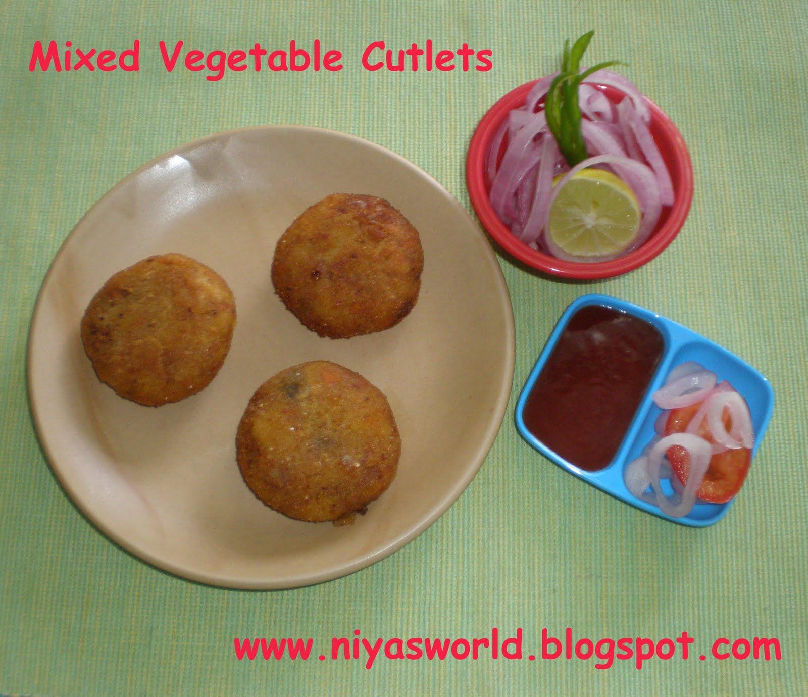 Niya's World: Mixed Vegetable Cutlets