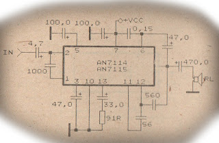 Power Amplifier Circuit with IC AN7114