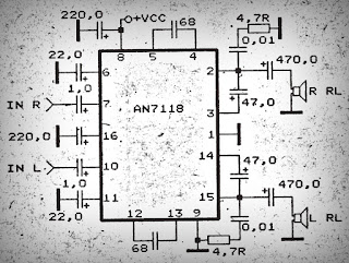 Power Amplifier Circuit with IC AN7118