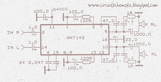 Power Amplifier Circuit with IC AN7142