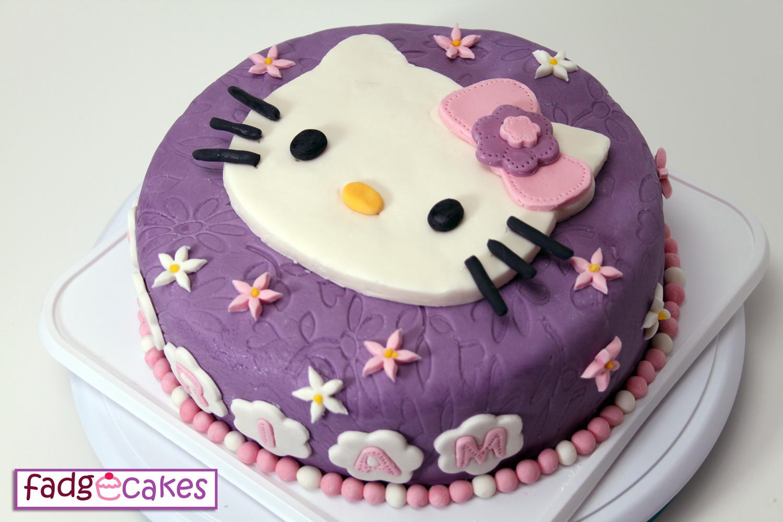 Fadgecakes Hello Kitty Purple Cake