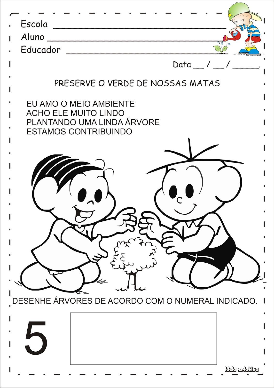 Atividade Meio Ambiente Pra Educacao Infantil