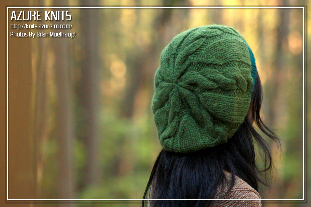 d079777e1af AZURE KNITS BLOG  Free Pattern! Quick Cable Slouch Hat  Hat ...