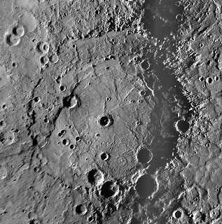 Crater Rembrandt on Mercury