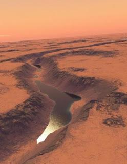 How Lake Shalbatana looked on Mars