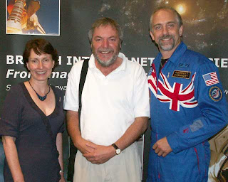 Helen Sharman, Paul Sutherland and Richard Garriott
