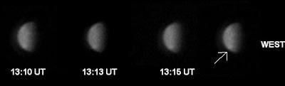 Photos of Venus with bright spot