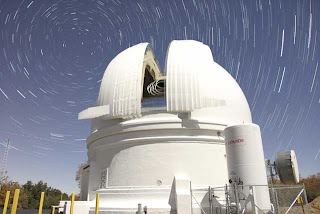 Star trails over the dome at Palomar