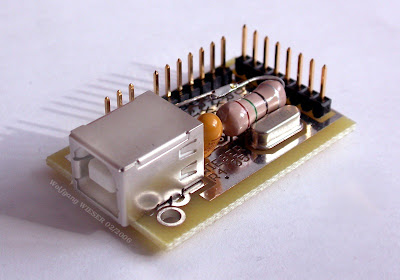 Microcontroller Project Circuit - USB 8 bit Interface Board