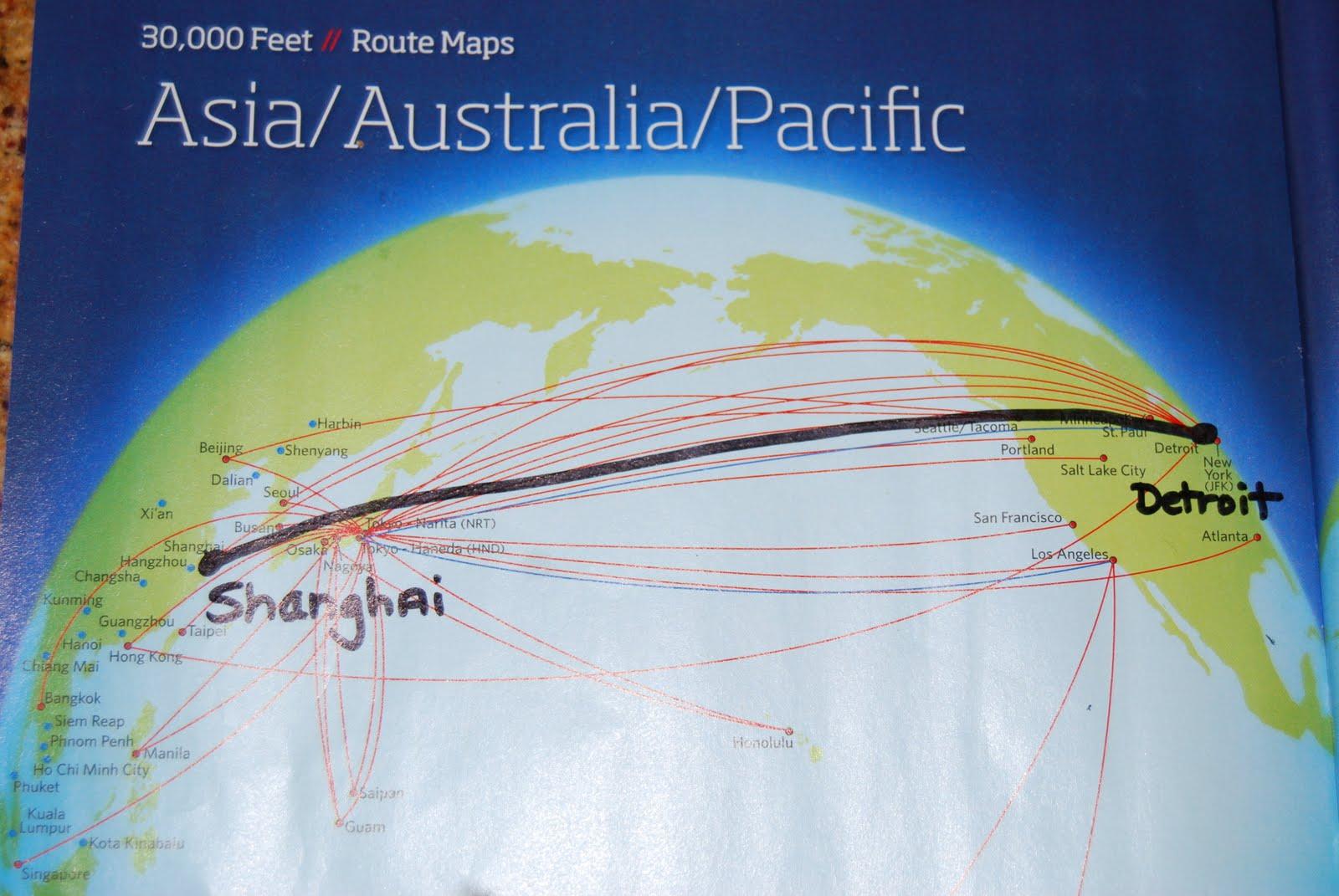 flight path from shanghai to san francisco