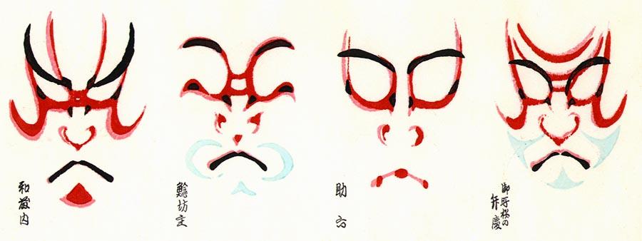 Akanohebi 39 s life kabuki for Kabuki mask template