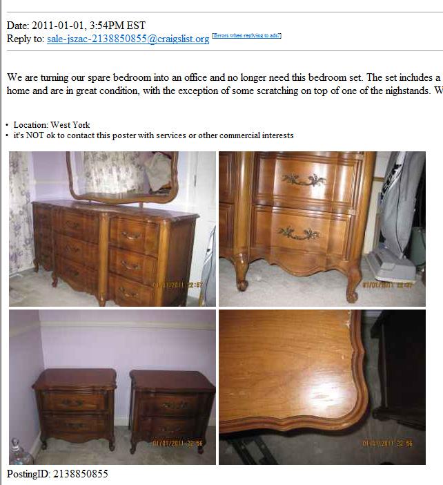 Craigs List, Craigslist Vintage Furniture Maryland