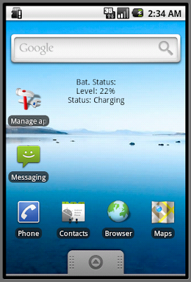 Home Screen Battery Widget