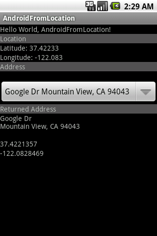 Android-er: Get location(Latitude and Longitude) from