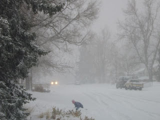 photograph of Denver's December, 2006 blizzard
