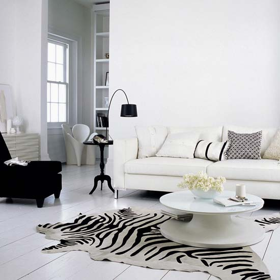Zebra Rug Interior Design: Gold Cage: Welcome To The Zebra World