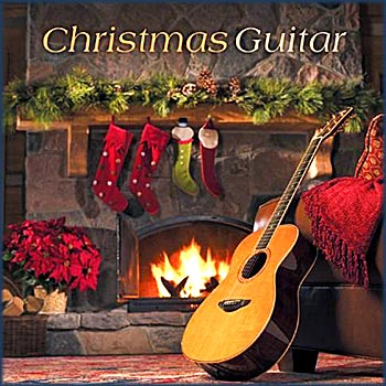 christmas guitar photo. Black Bedroom Furniture Sets. Home Design Ideas