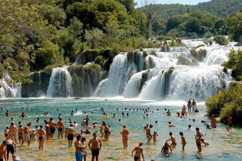 Wonderful Waterfalls Of Krka Sibenik Croatia Stock Image City Earth