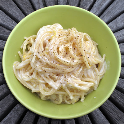 Meyer Lemon Spaghetti with Goat Cheese