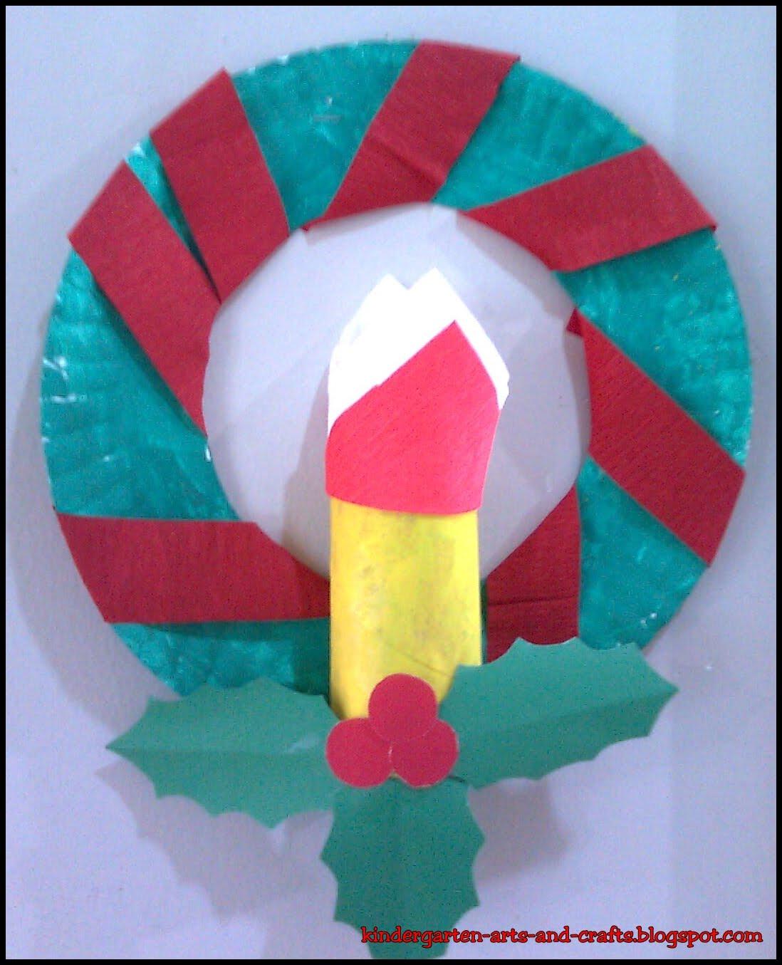 Kindergarten Arts And Crafts Christmas Advent Wreath