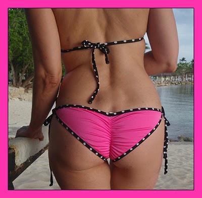 scrunchy pink bikini