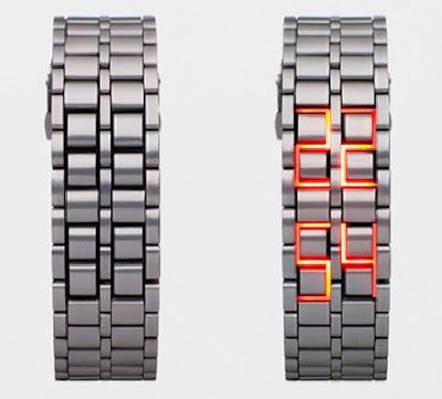 Faceless LED Watch Is More Like A Bracelet