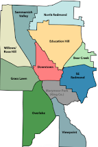 REDMOND NEIGHBORHOODS (click map)