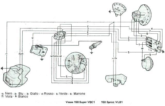 vespa sprint diagrama de cableado